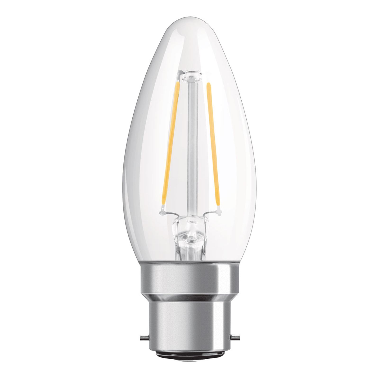 OSRAM-LED-kynttilä B22d Classic 827 4W kirkas