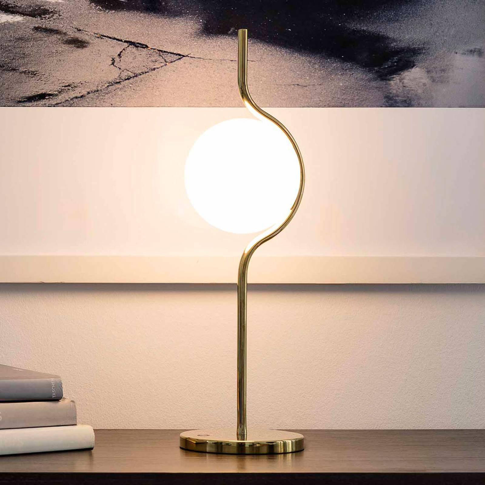 LED-bordlampe Le Vita med opalglass