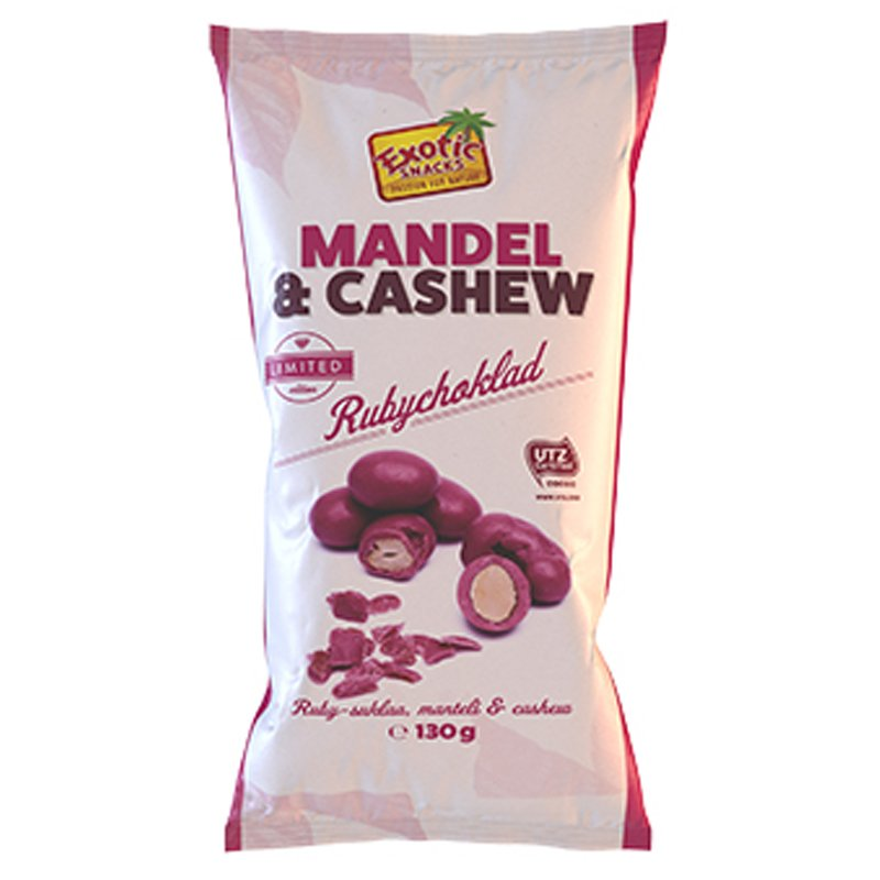 Rubysuklaa Manteli & Cashew - 53% alennus