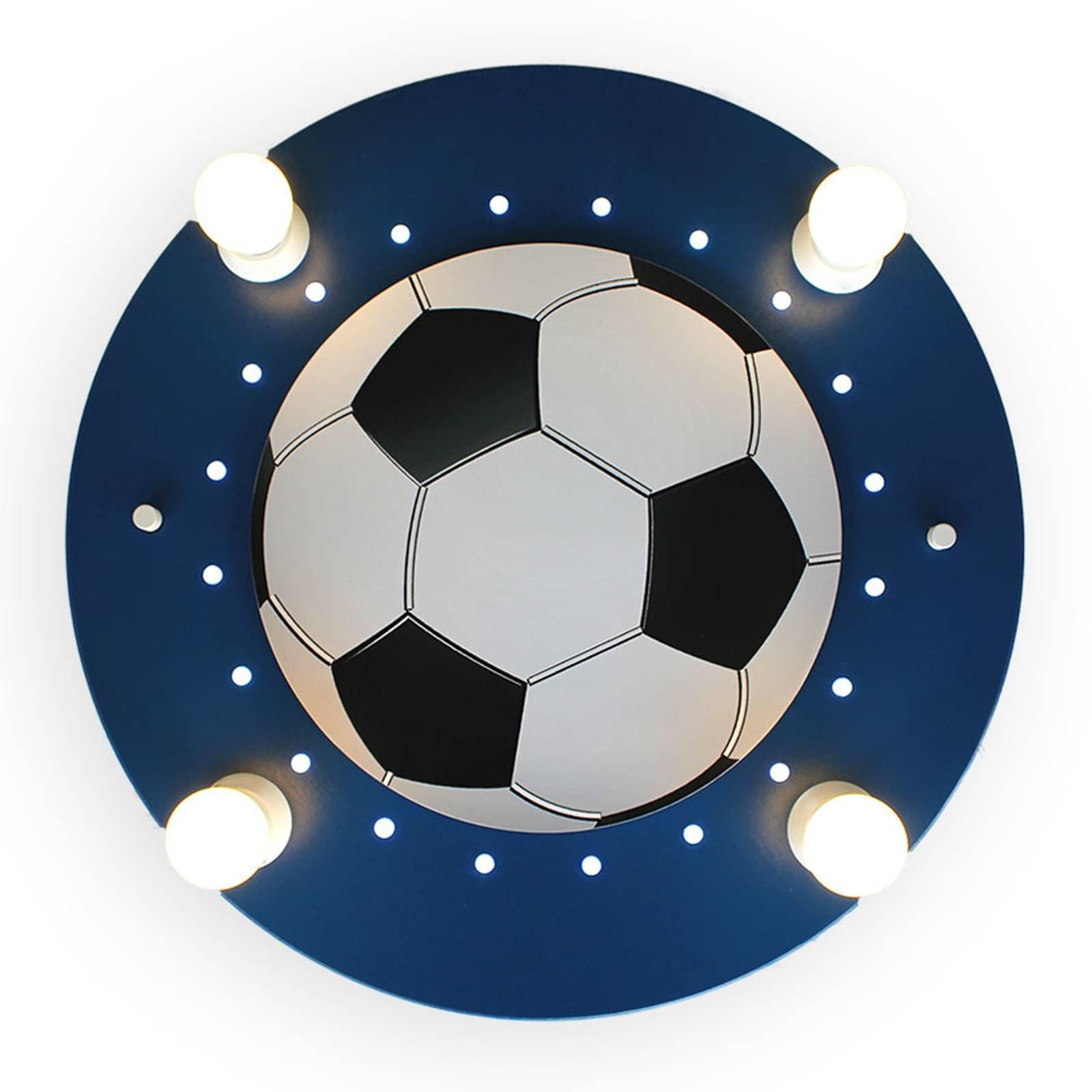 Taklampe Fotball, 4 lyskilder, mørkeblå og hvit