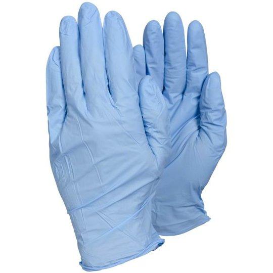 Tegera 84501 Kertakäyttökäsine Sininen nitriili, Puuteriton Koko 9, 100-pack