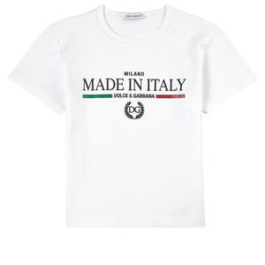 Dolce & Gabbana Logo T-Shirt Vit 10 år