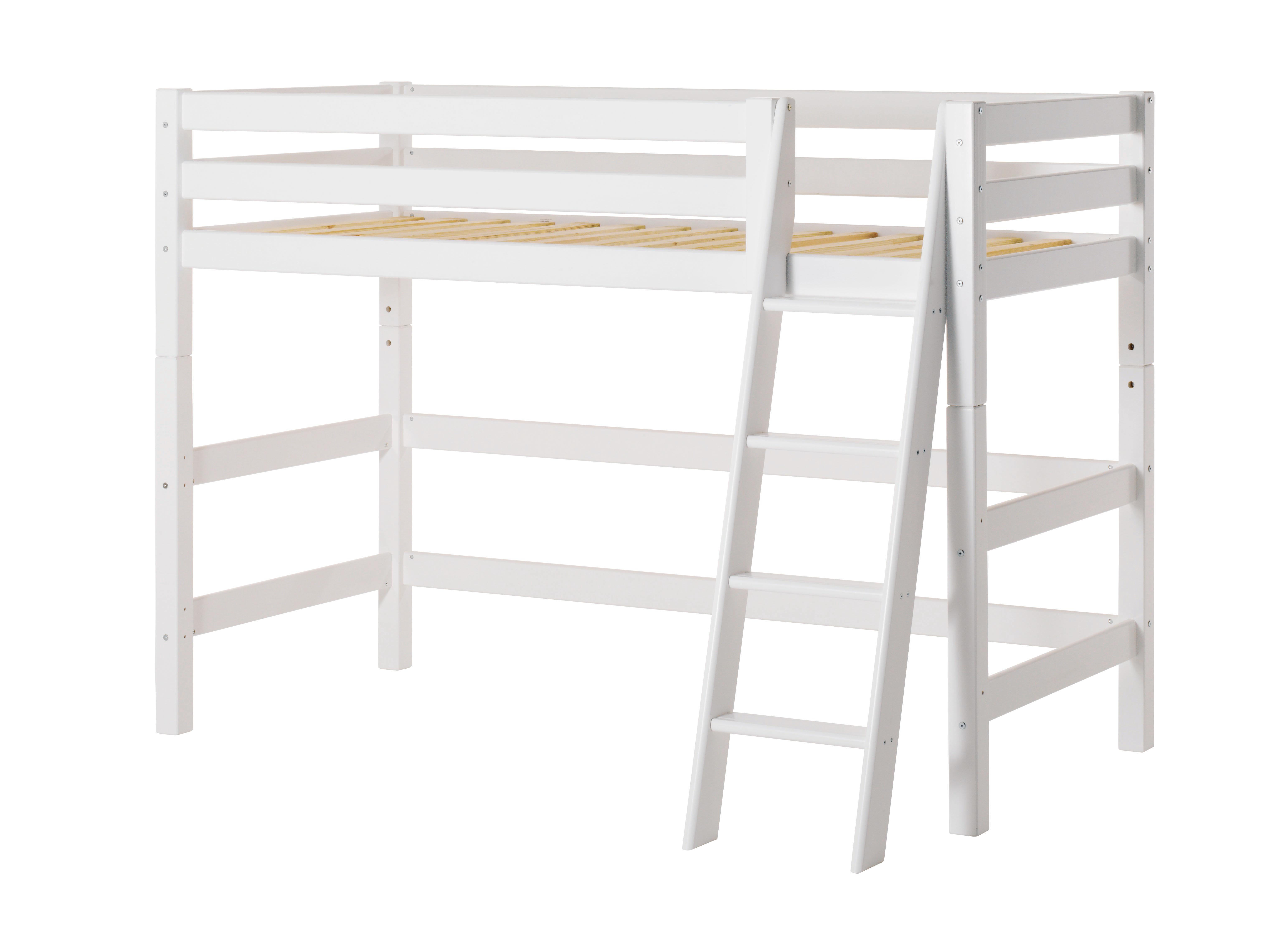 Hoppekids - PREMIUM Mid-high Bed 70x160 with Slant Ladder