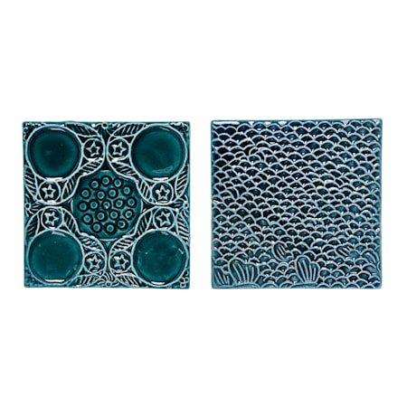 Deco Plate Grønn Stentøy 10,5x10,5 cm Usortert Stykkvis