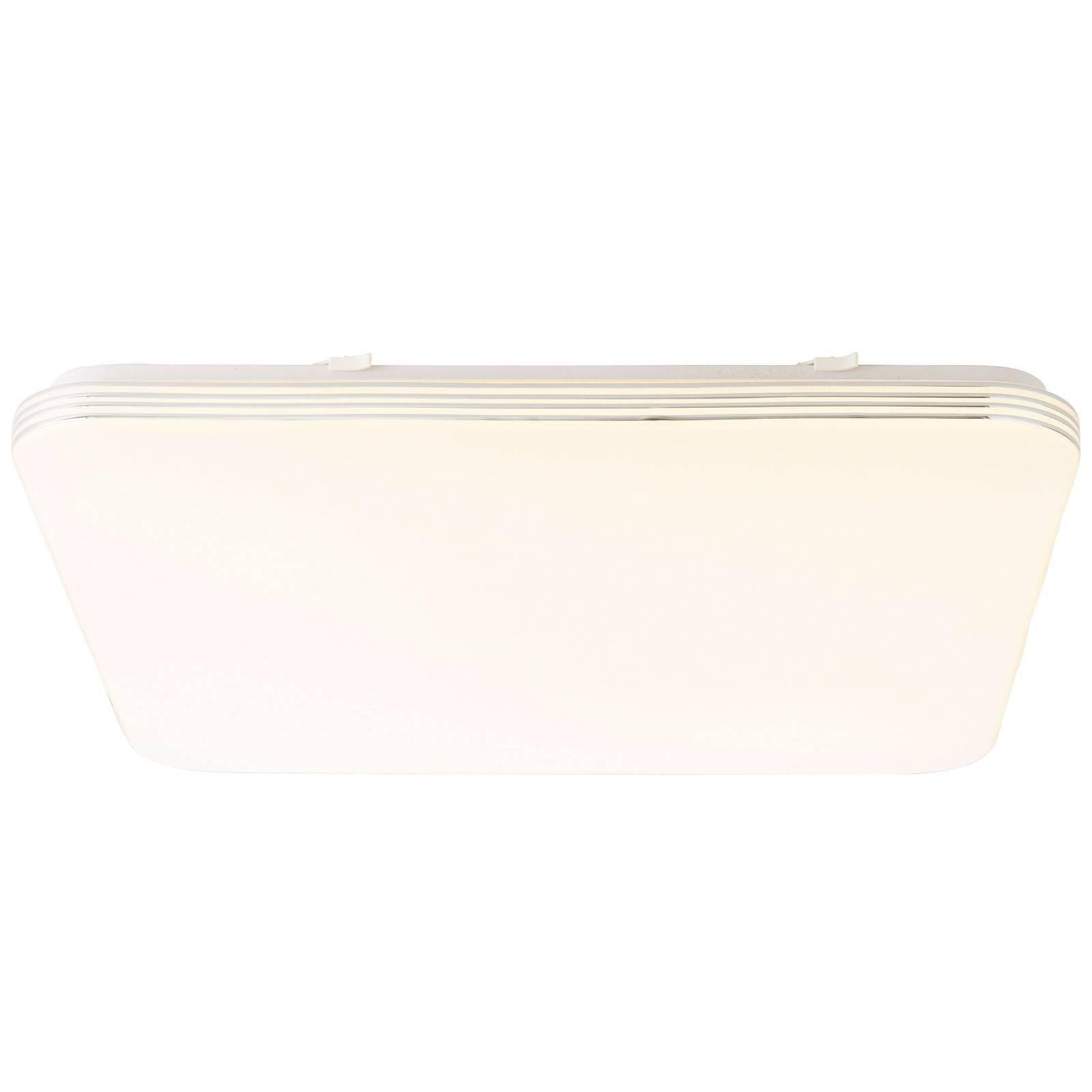 LED-taklampe Ariella i hvit/krom, 54 x 54 cm