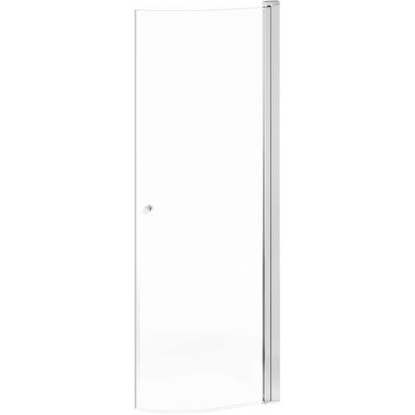 Gustavsberg Round Dusjdør klart glass, polert profil 100 cm