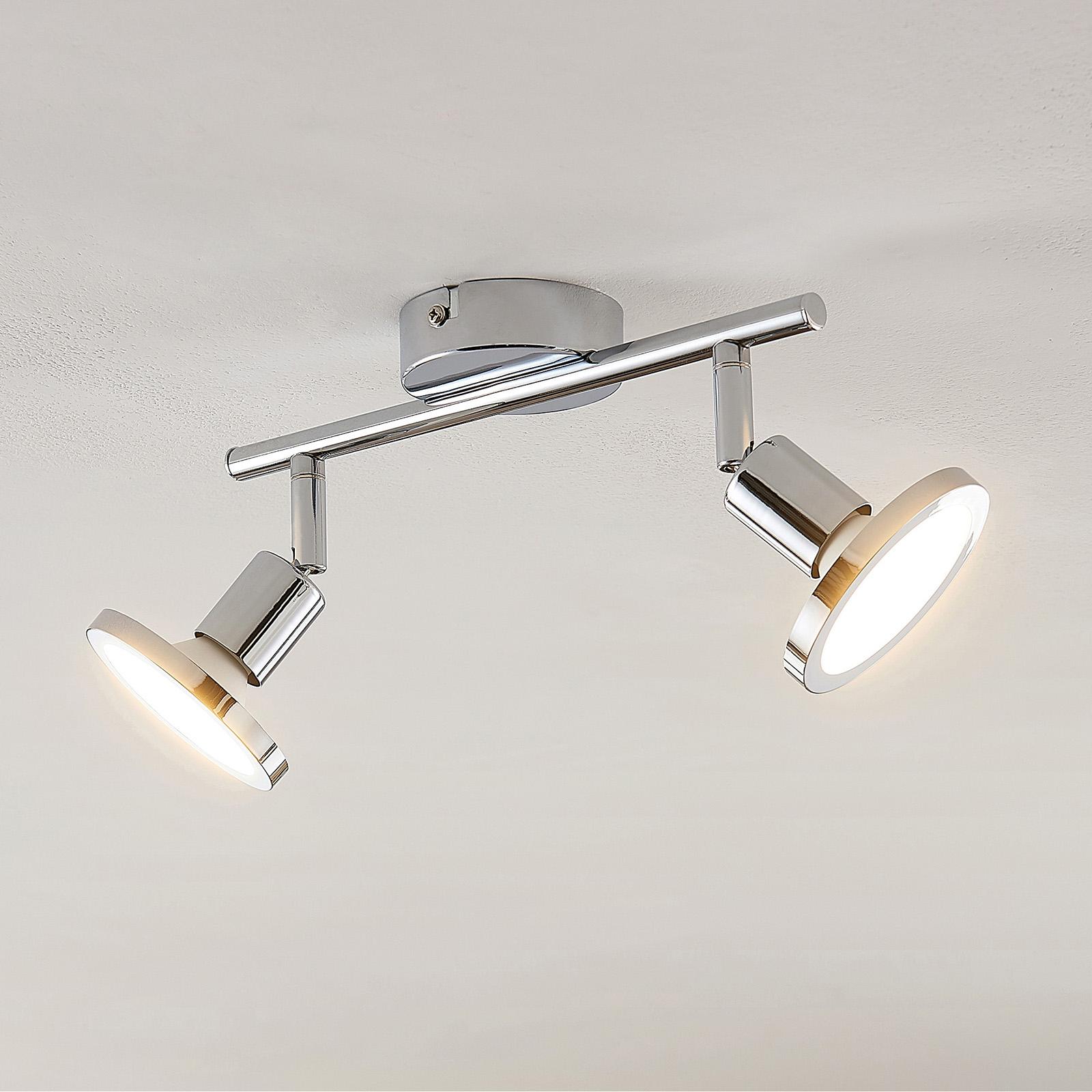 Lindby Ayden LED -kattovalaisin, kaksilamppuinen
