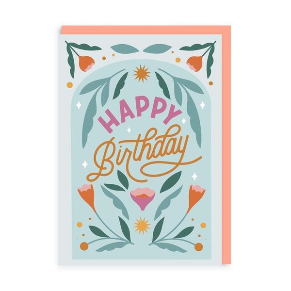 Birthday Floral Greeting Card