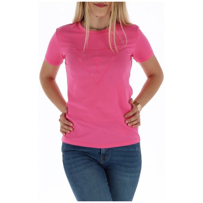 Guess Women's T-Shirt Pink 301096 - pink S