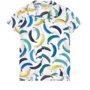 Paul Smith Junior Banana Print Skjorta Vit 6 år
