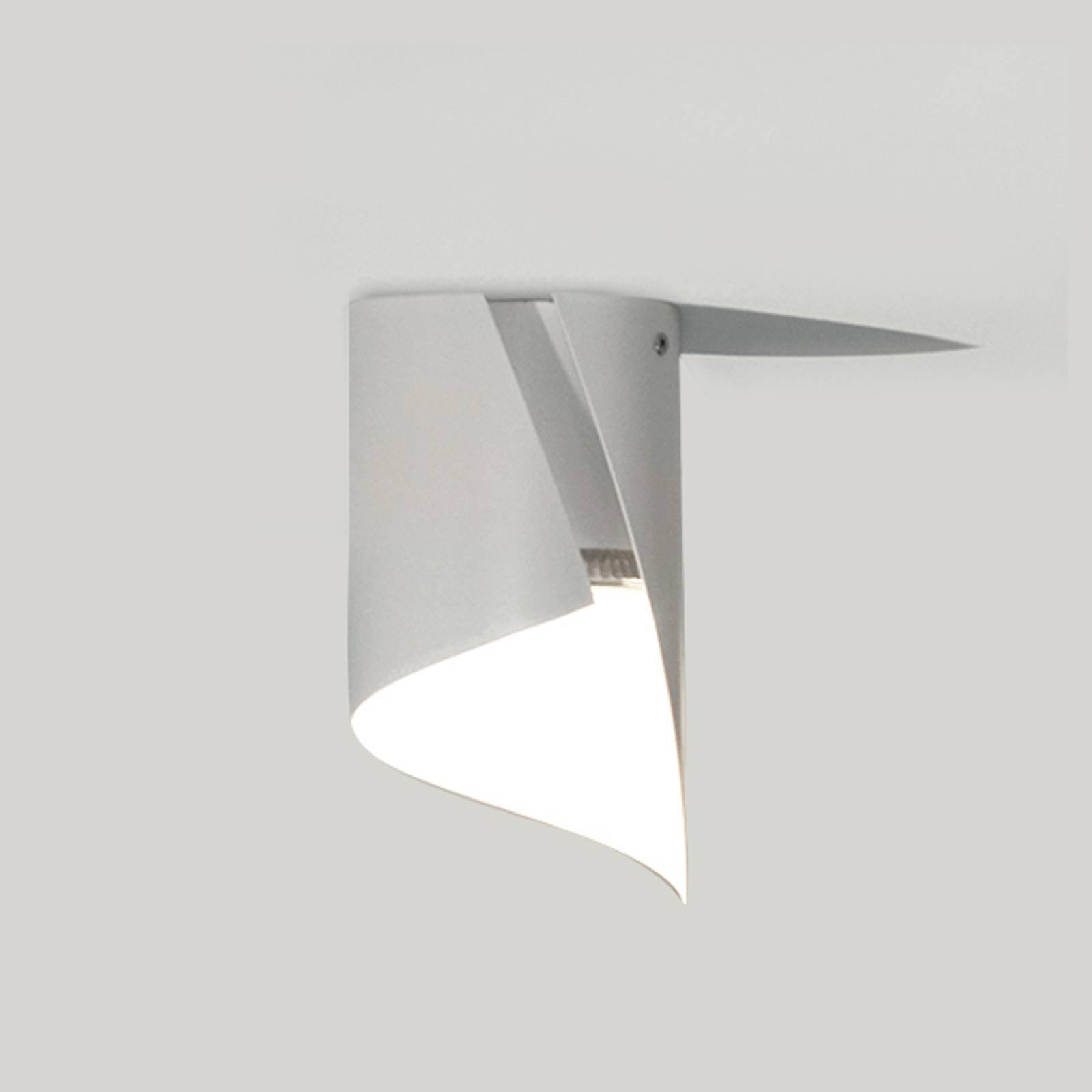 Knikerboker Hué-LED-taklampe 8 x 15 cm hvit