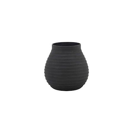Groove Vase Svart Small