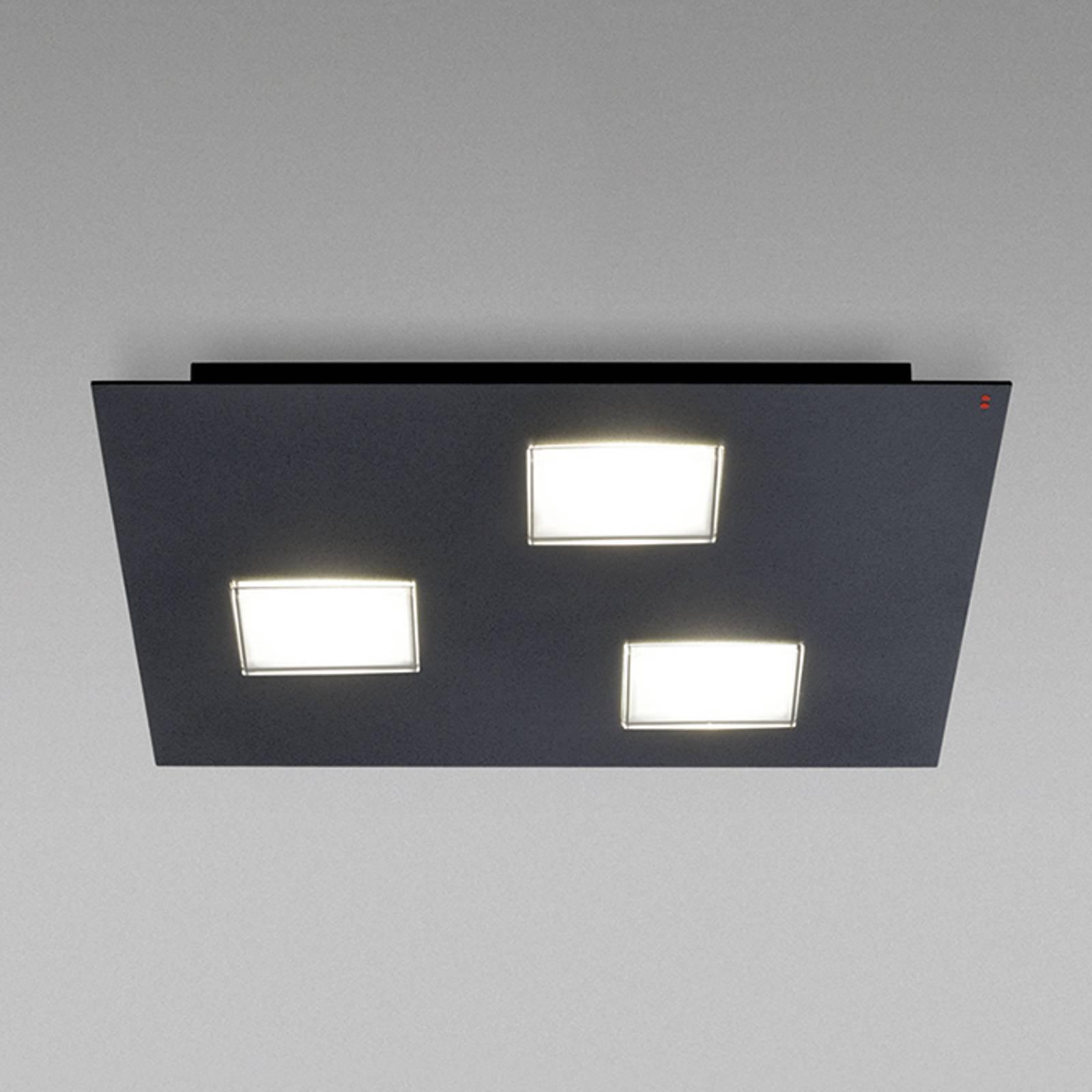 Fabbian Quarter - LED-taklampe 3 lyskilder, svart