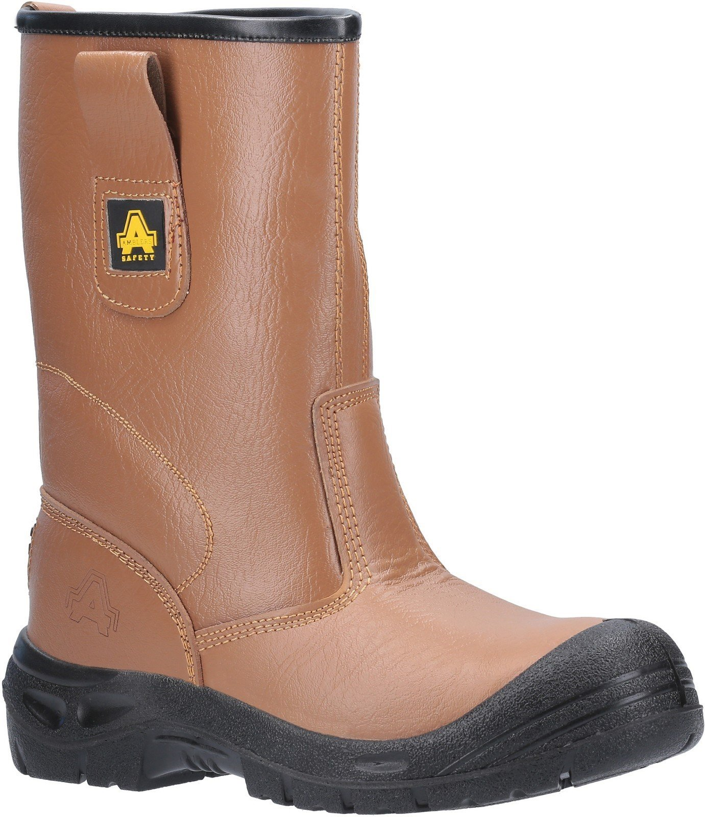 Amblers Unisex Safety Water Resistant Pull On Rigger Boot Tan 20427 - Tan 3