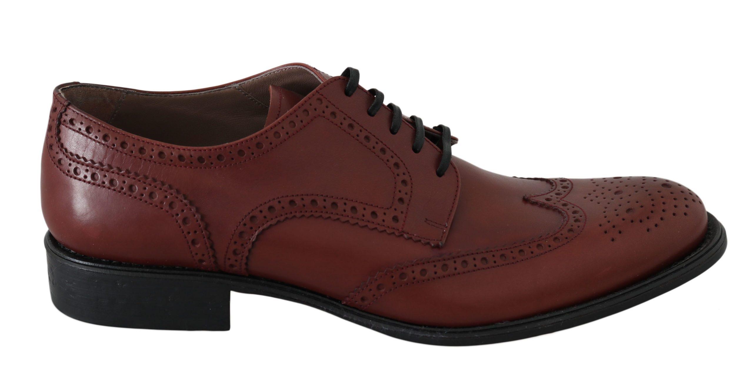 Dolce & Gabbana Men's Leather Brogue Shoes Red MV2495 - EU42.5/US9.5