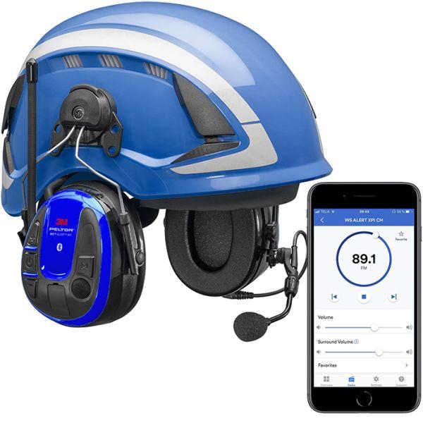 3M Peltor WS Alert XPI Hørselvernpakke med blå vernehjelm og mobilapp