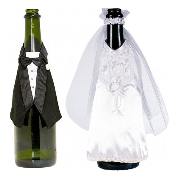 Flaskklädsel Brudpar - 2-pack