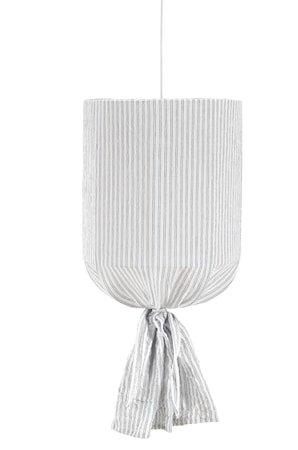 Round Takskjerm Stripete Hvit/Blå 30cm