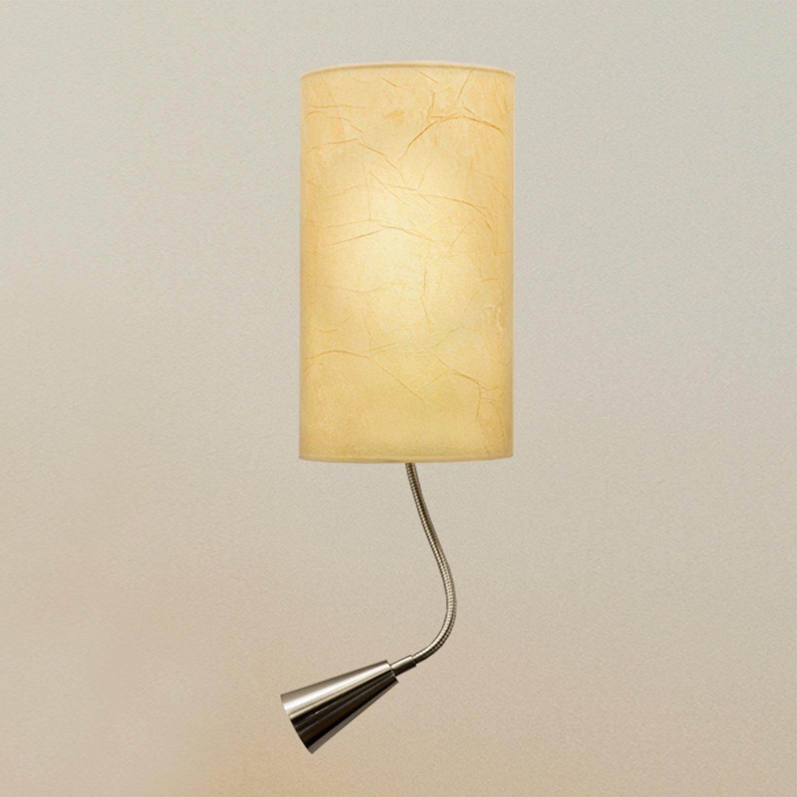 Melia vegglampe med integrert LED-leselys