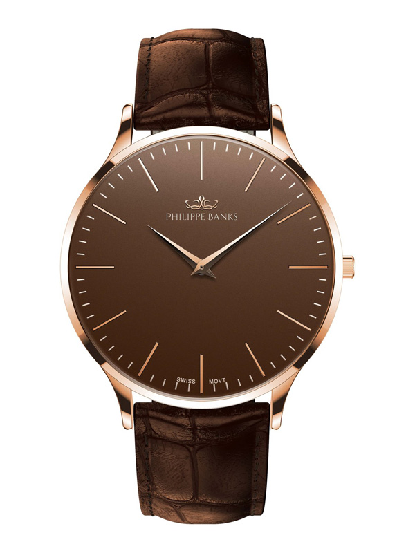 Philippe Banks Slimline 40 Rosé Brown Leather 402-03-L04