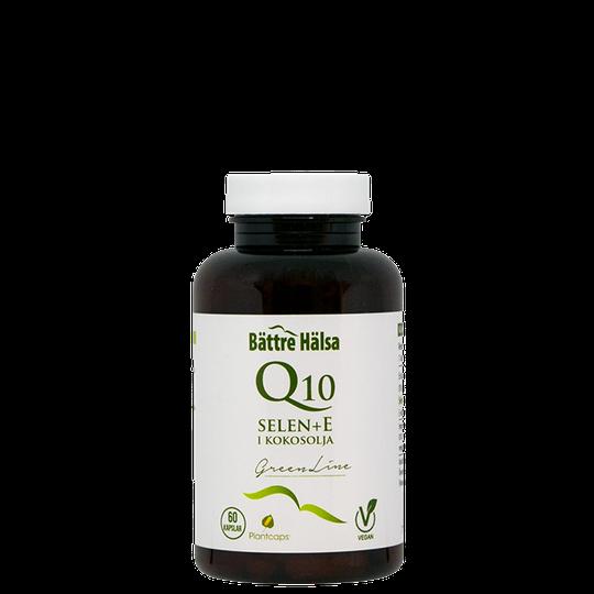 Q10 200 mg + Selen + E, 60 kapslar