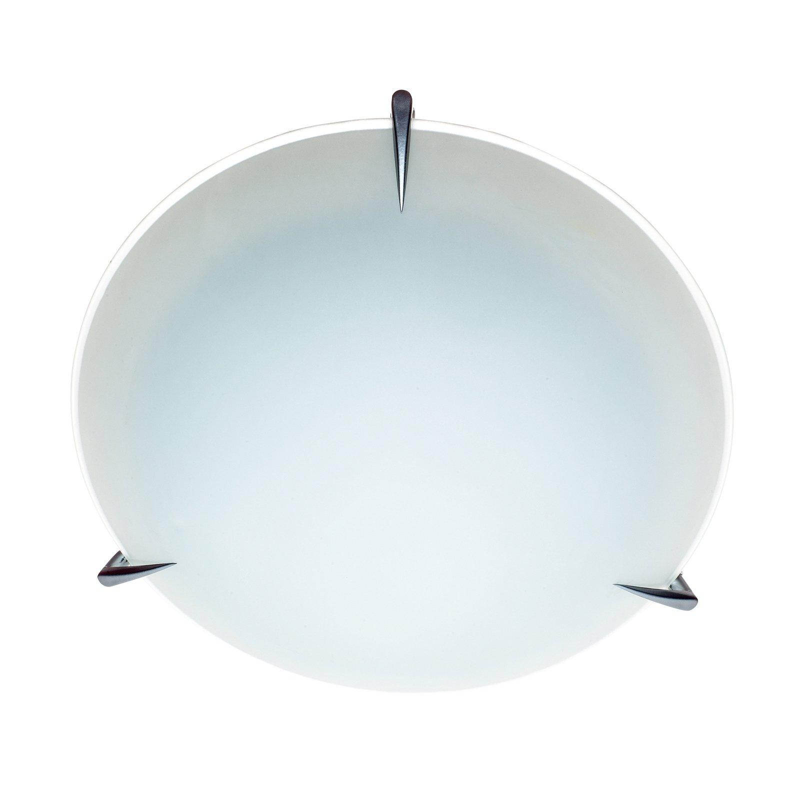 Taklampe Mars av glass, Ø 25 cm