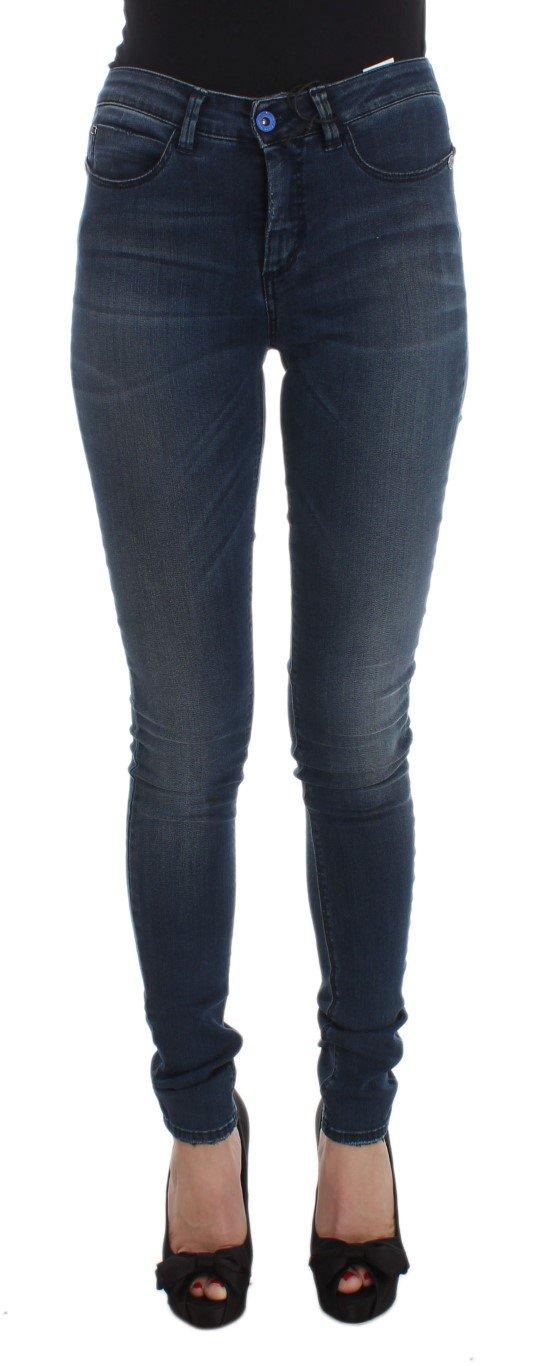 Costume National Women's Cotton Blend Slim Fit Jeans Blue SIG32578 - W26