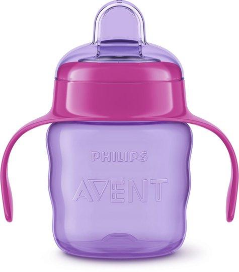 Philips Avent Classic Tåtekopp 200 ml, Purple/Pink