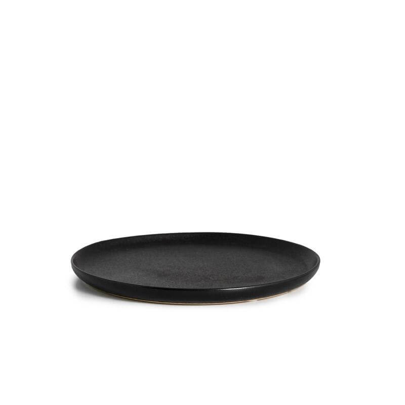 Stoneware plates - Small, Black