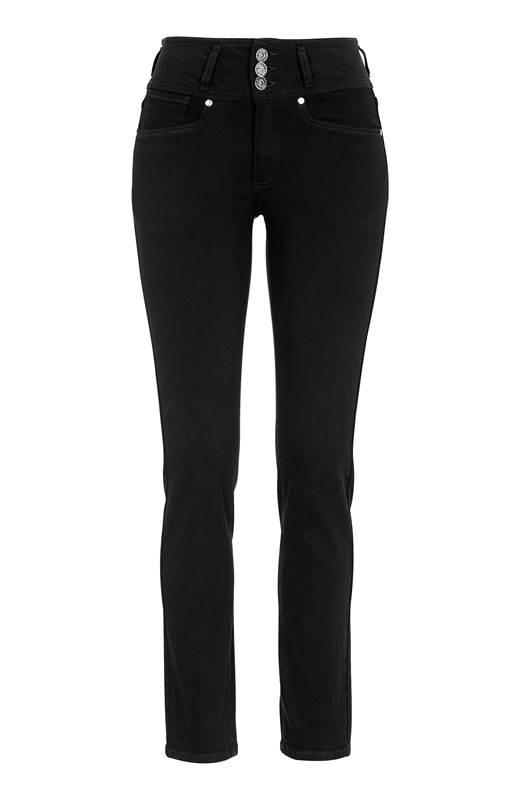 Cellbes Raka jeans med hög midja Jenny Svart