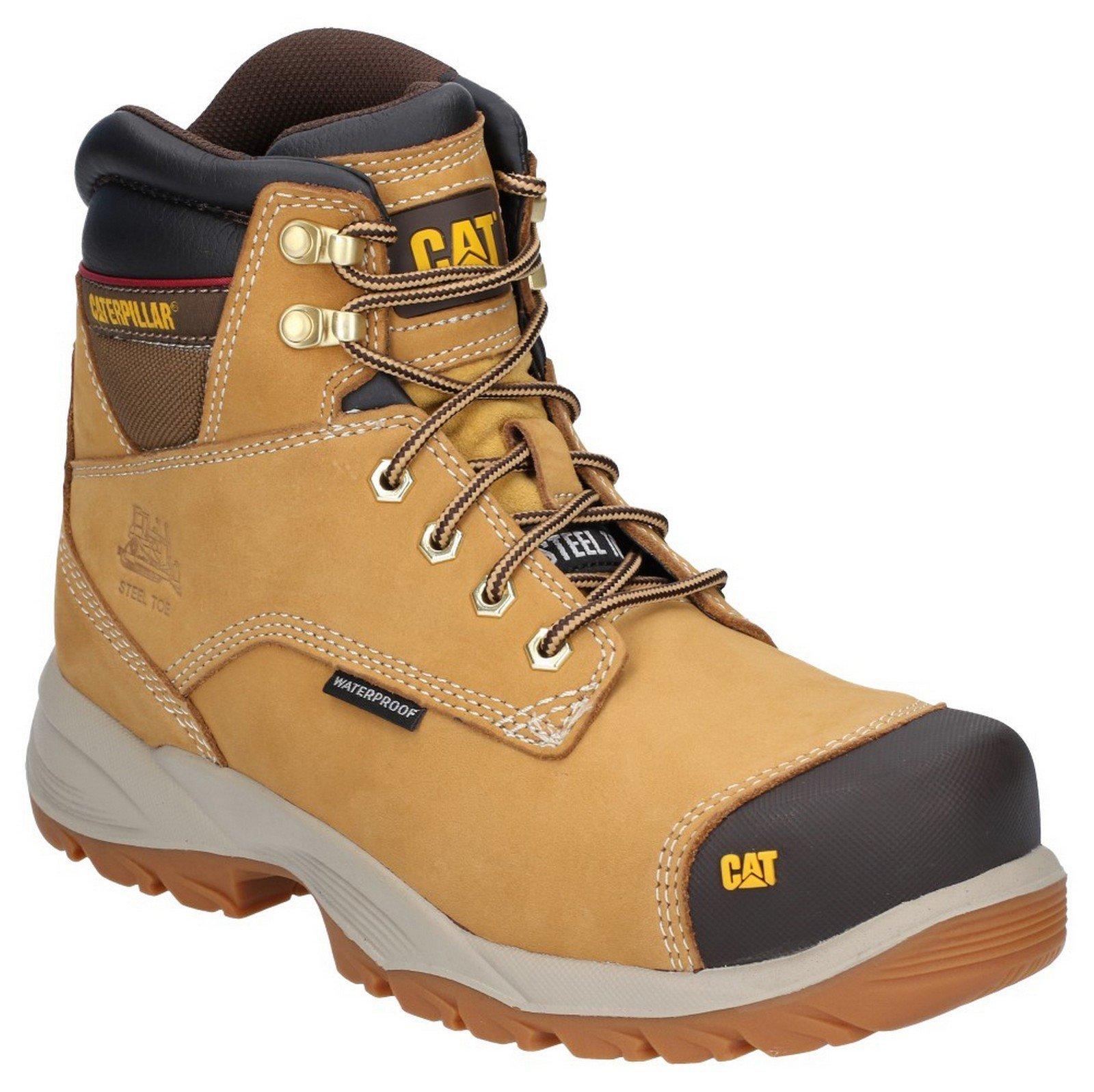 Caterpillar Men's Spiro Lace Up Waterproof Safety Boot Honey 29662 - Honey Reset 6