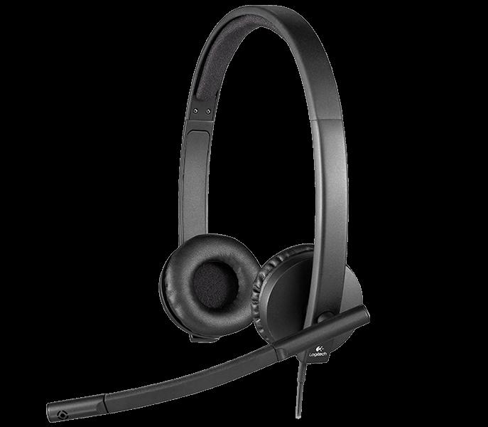 Logitech - H570e Stereo Headset USB