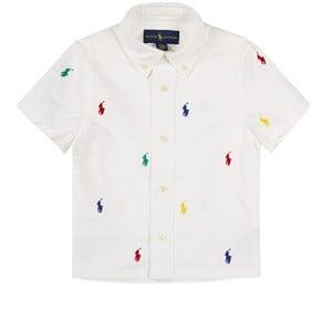 Ralph Lauren Logo Skjorta Vit 2 år