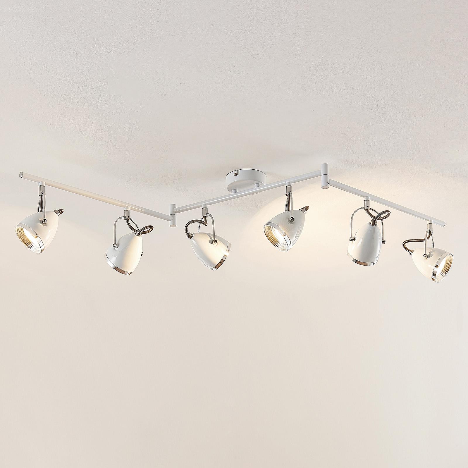 Lindby Jadon LED -kattospotti 6-lampp. valkoinen