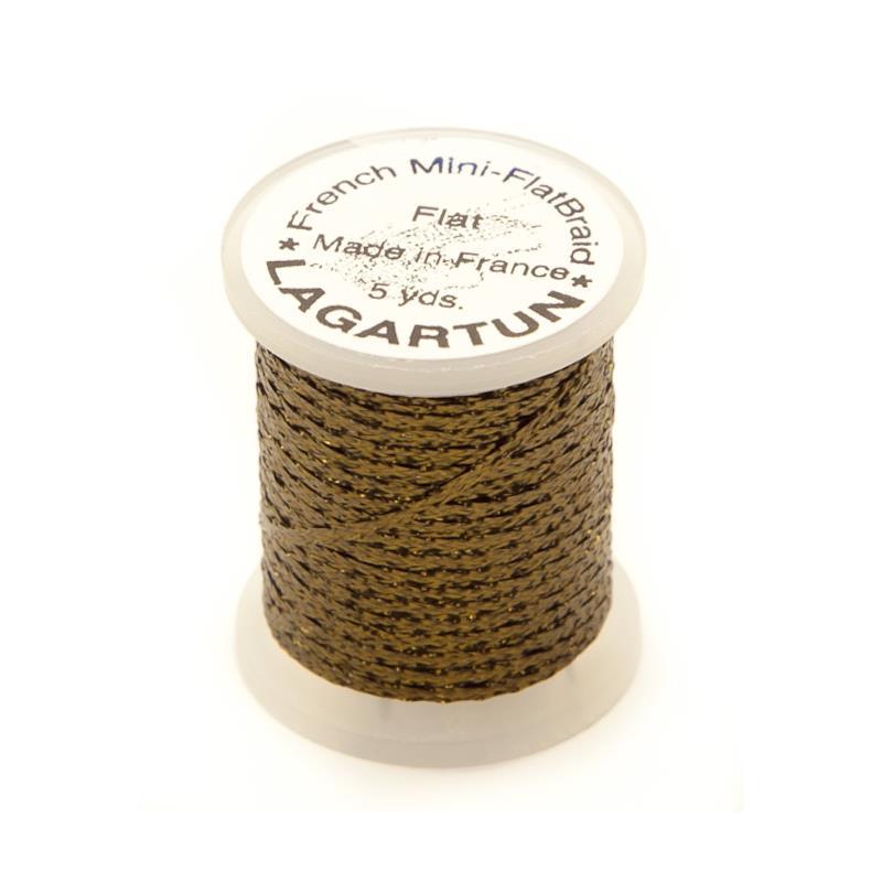 Lagartun Mini-Flatbraid - Olive