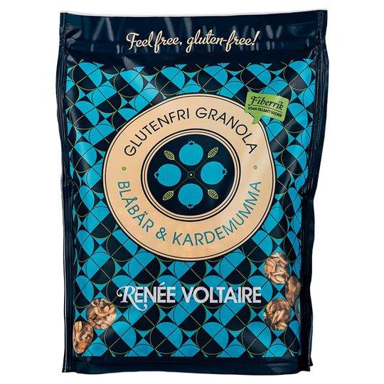 Renee Voltaire Glutenfri Granola Blåbär & Kardemumma, 375 g