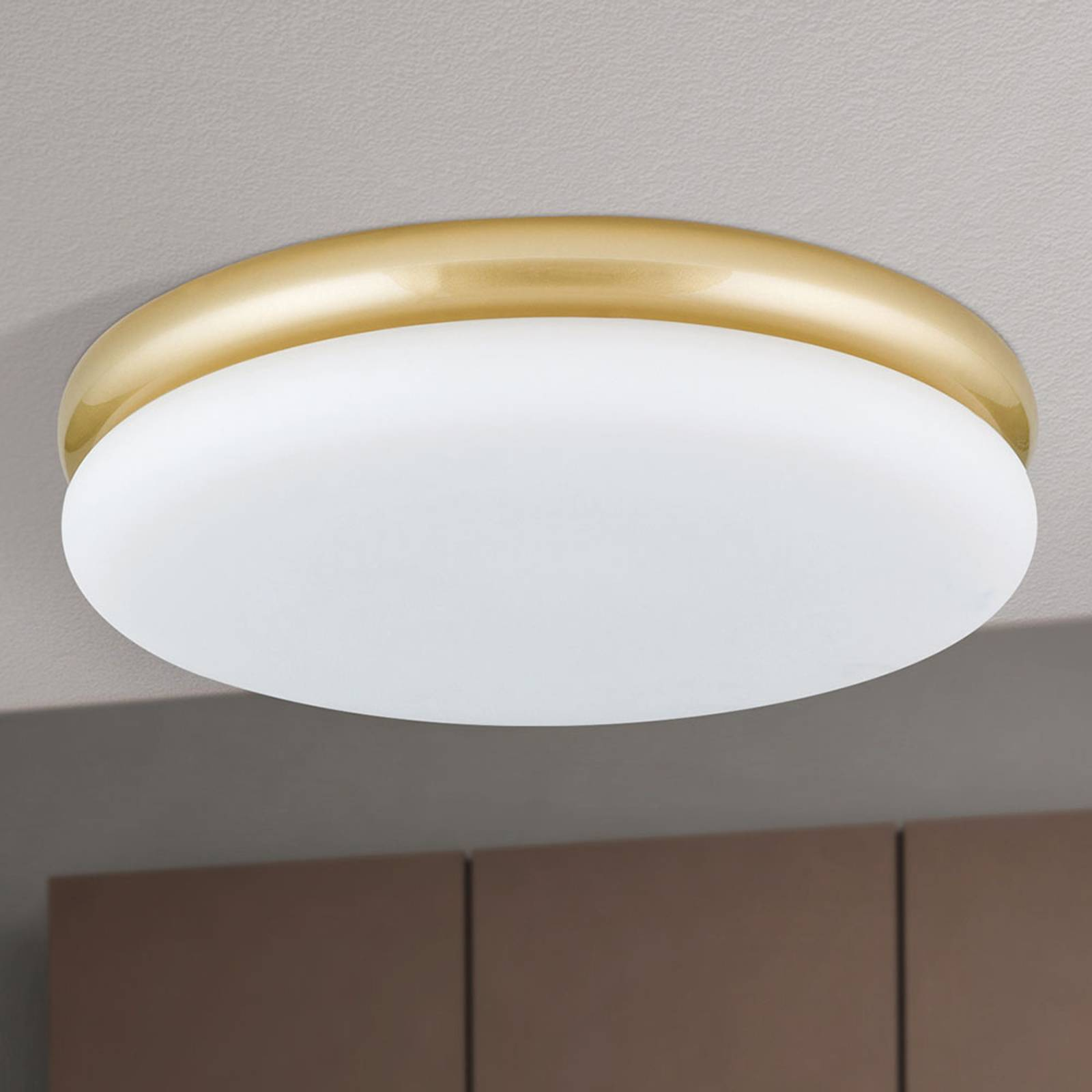 LED-kattovalaisin James, metallirunko, messinki