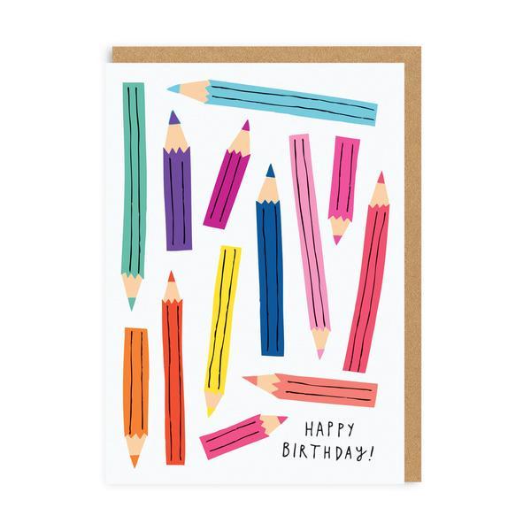 Pencils Happy Birthday Greeting Card