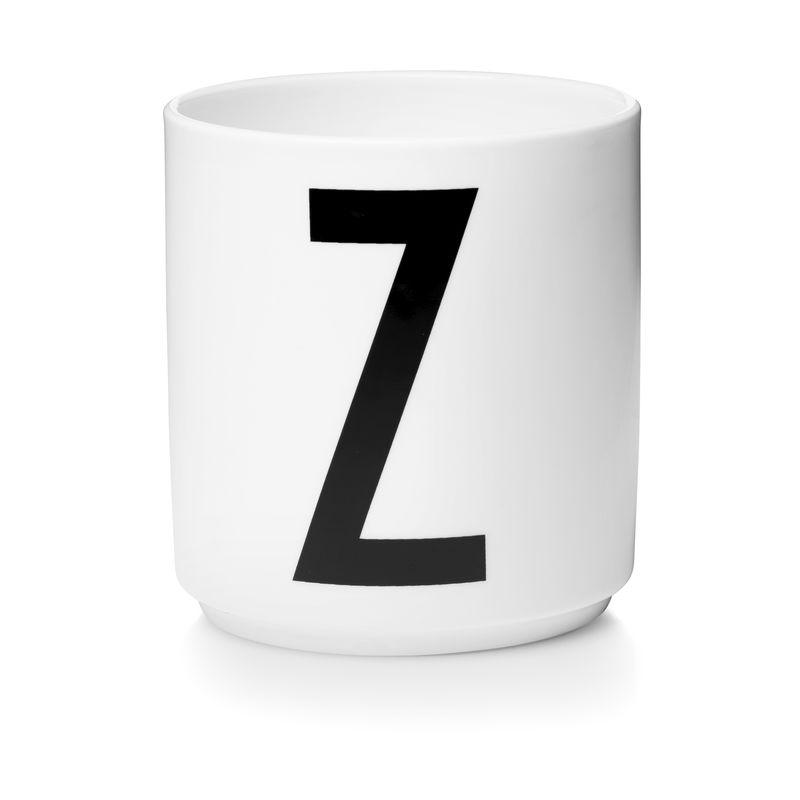 Design Letters - Personal Porcelain Cup Z - White