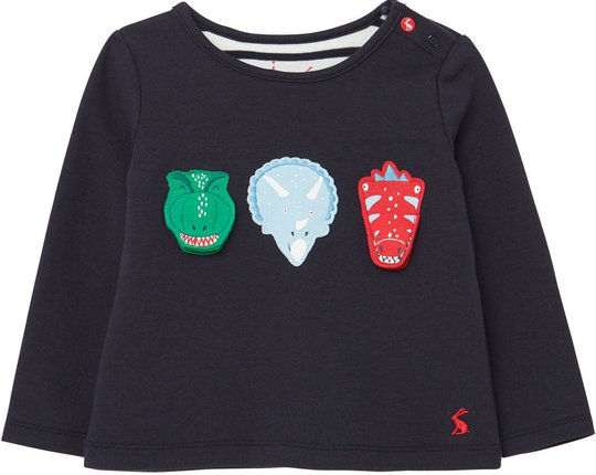 Tom Joule Chomp T-shirt, Navy Dinosaur, 3-6 Månader