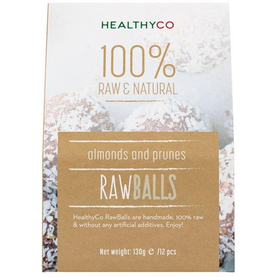 Raakapallot Manteli/Luumu 130g - 60% alennus