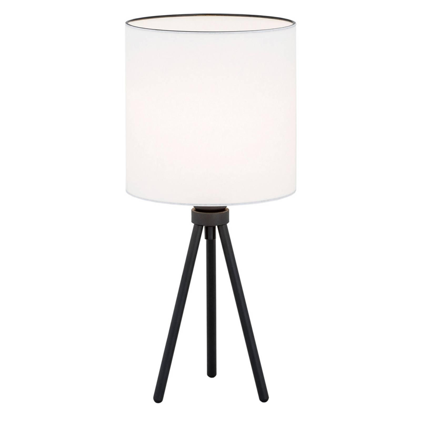 Pöytälamppu Harris, kolmijalka, musta/valkoinen