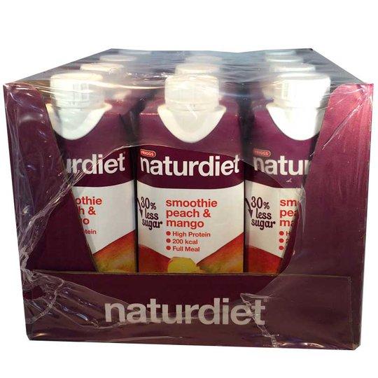 12-pack Naturdiet Smoothie Peach & Mango - 60% rabatt