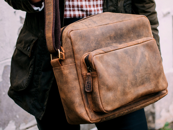 Women's Retro Leather Shoulder Bag Brown