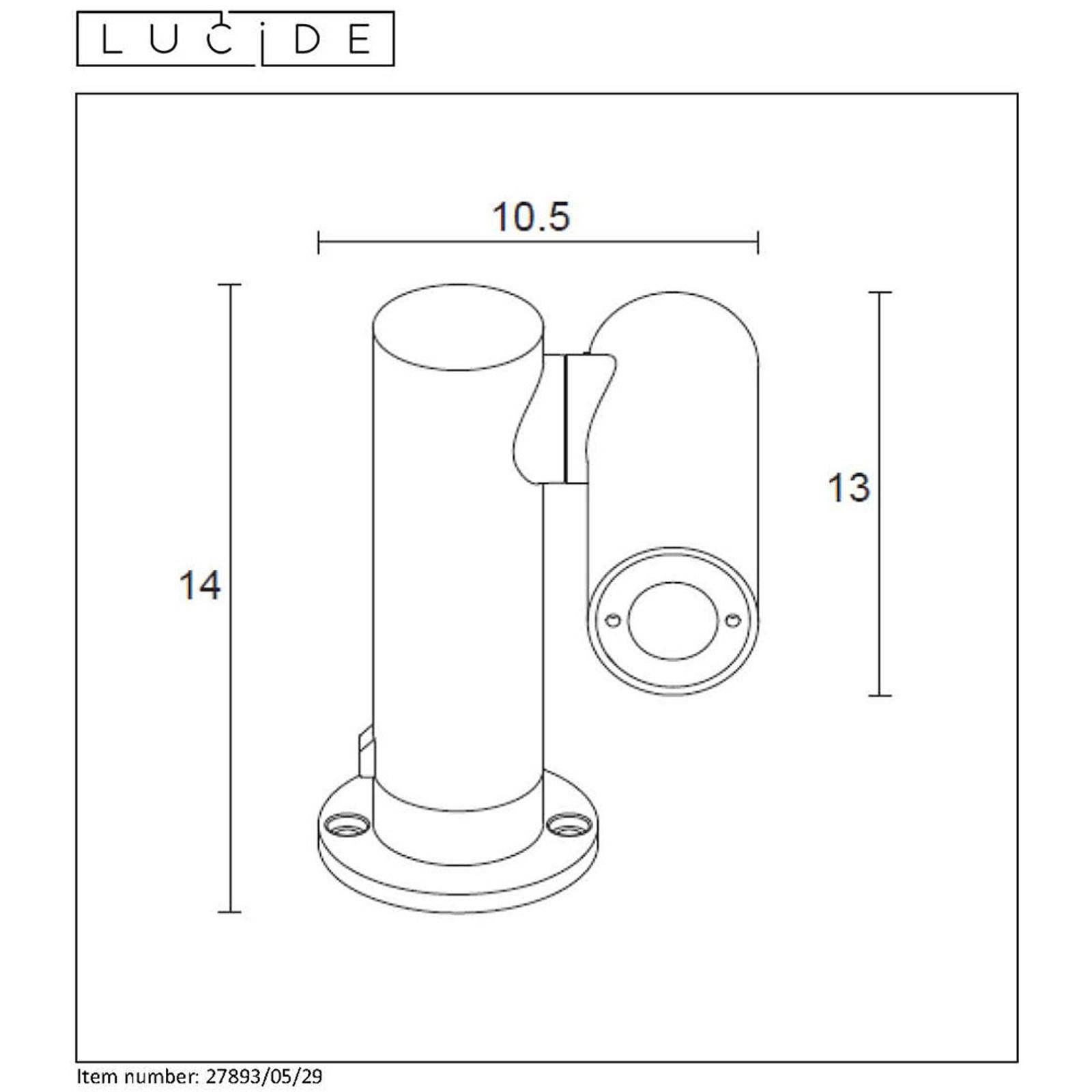 LED-pollarivalaisin Tatum, käännettävä spotti 14cm