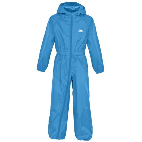 Trespass Kid's Waterproof All-In-One Suit Various Colours Button - Cobalt 6 to 12 Months