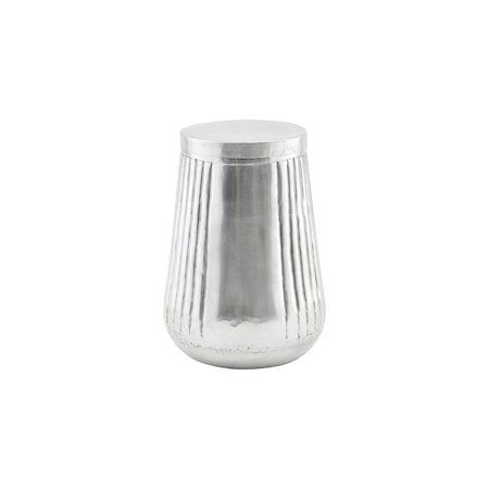 Oppbevaringskrukke med lokk, Sadei, Sølv, h: 21 cm