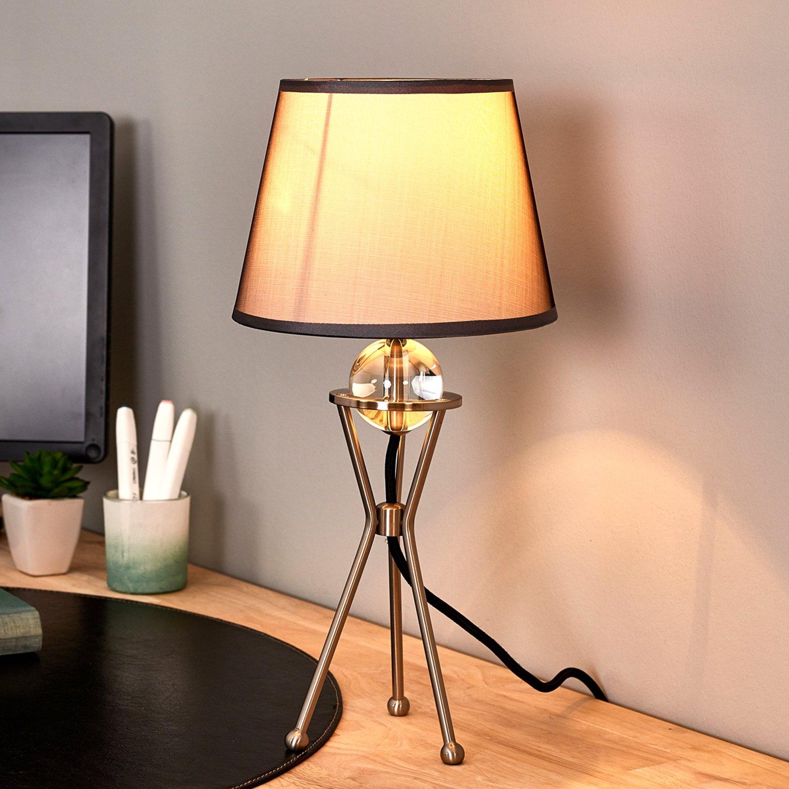 Svingbar Zsa bordlampe i grått