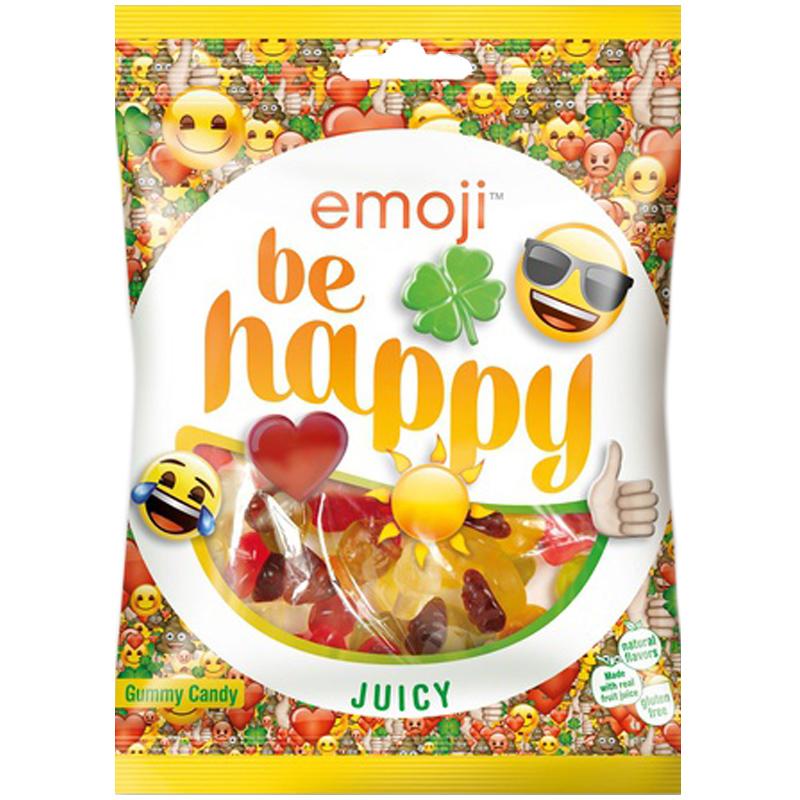"""Godis """"Emoji Be Happy"""" 175g - 30% rabatt"""