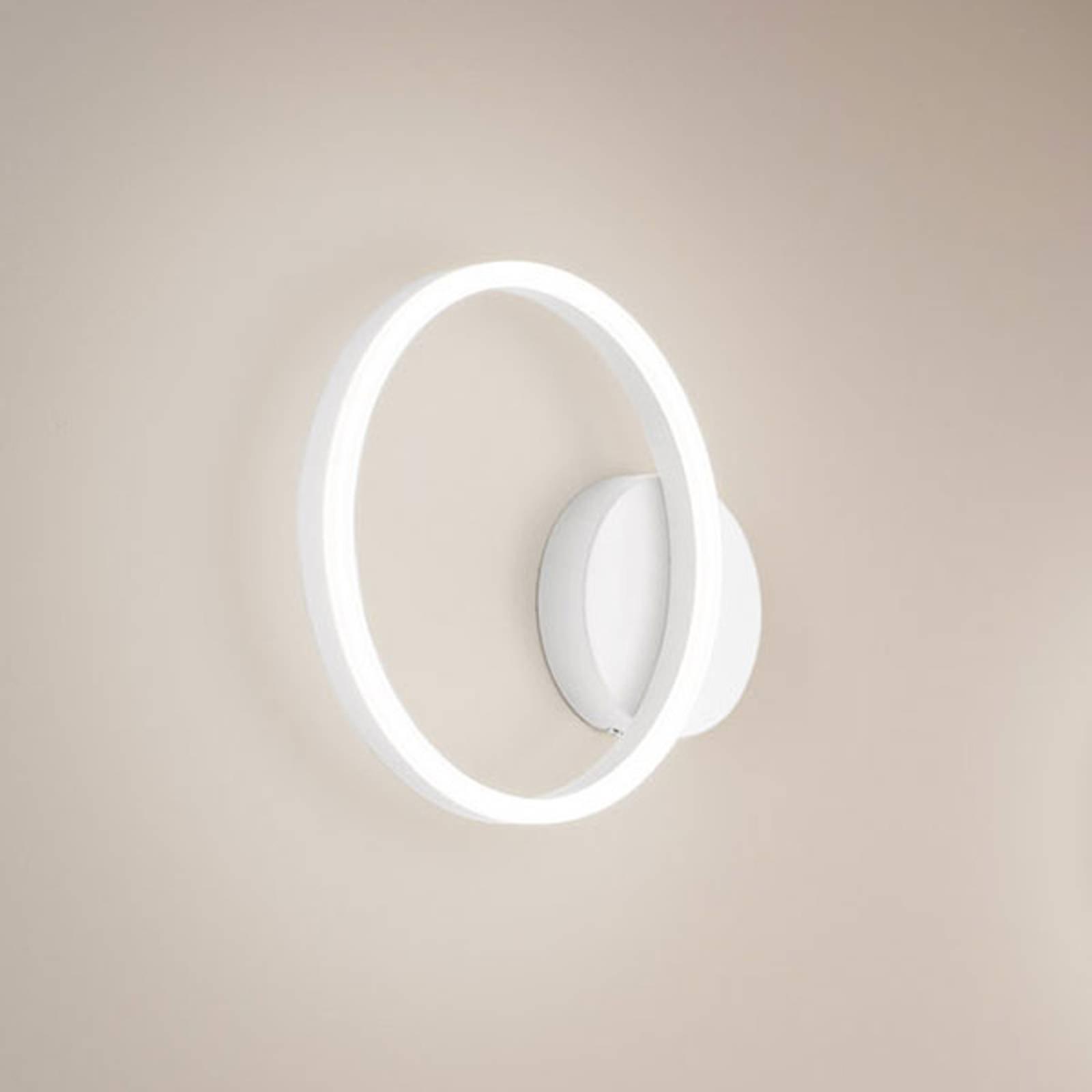 LED-vegglampe Giotto, 1 lyskilde, hvit